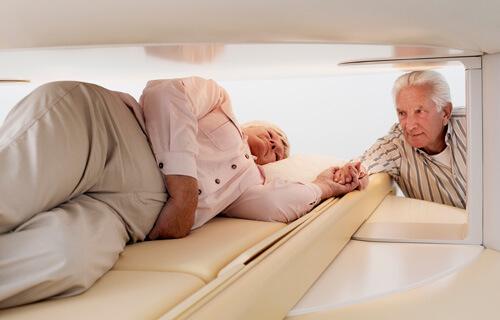 Im offenen MRT bleiben Patienten mit Platzangst ruhig.